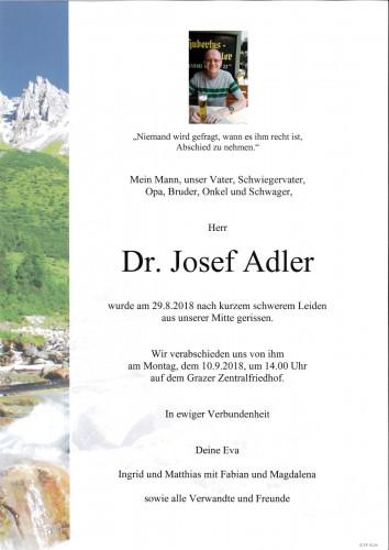 Dr. Josef Adler