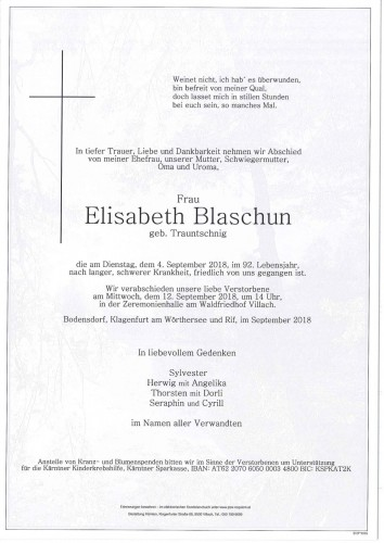 Elisabeth Blaschun
