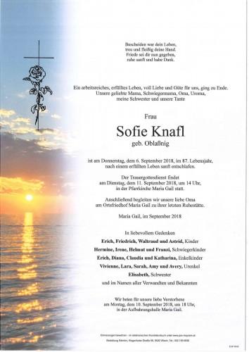 Sofie Knafl geb. Oblaßnig