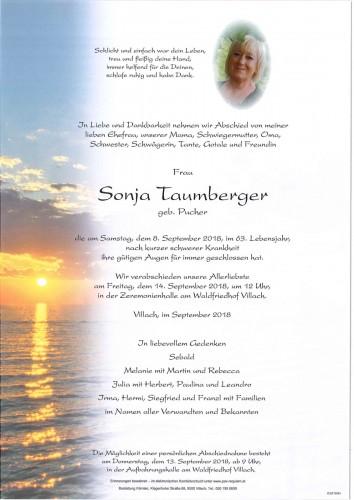 Sonja Taumberger geb. Pucher