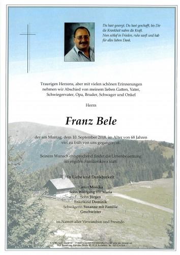 Franz Bele