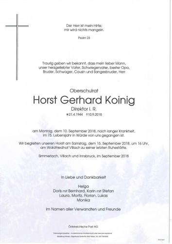 Oberschulrat Horst Gerhard Koinig