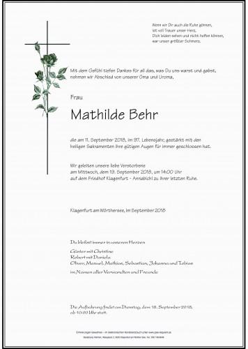 Mathilde Behr