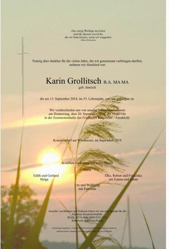 Karin Grollitsch B.A. MA MA