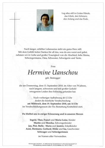 Hermine Uanschou geb. Steinegger