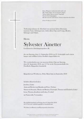 Sylvester Ainetter