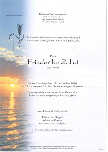 Friederike Zellot