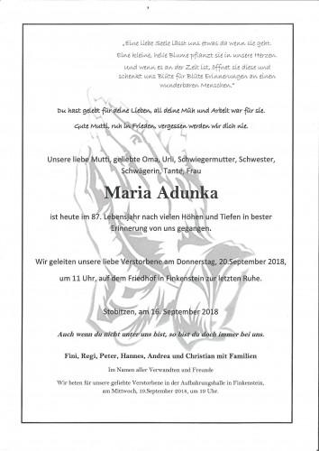 Maria Adunka