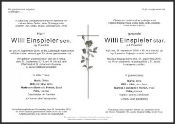 Willi Einspieler sen.