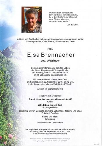 Elsa Brennacher geb. Wetzlinger