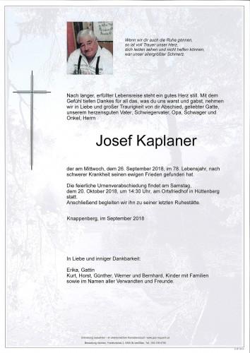 Josef Kaplaner
