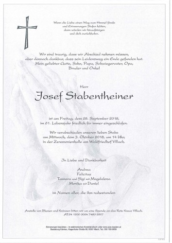 Josef Stabentheiner