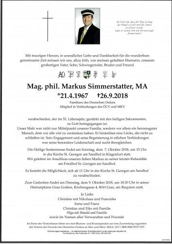 Mag. phil. Markus Simmerstatter, MA