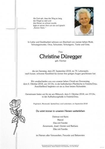 Christl Düregger, Fercher
