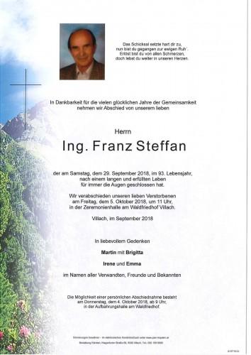 Ing. Franz Steffan