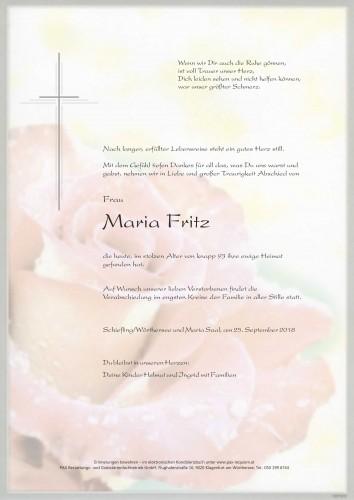 Maria Fritz geb. Pirolt