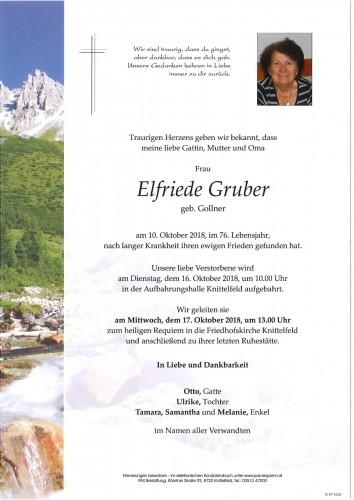 Elfriede Gruber geb. Gollner