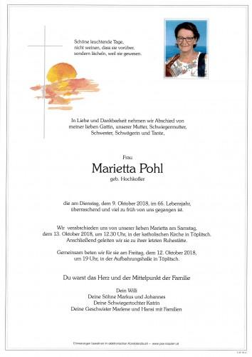 Marietta Pohl, geb. Hochkofler