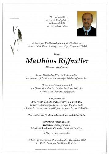 Matthäus Riffnaller, vlg. Peintner