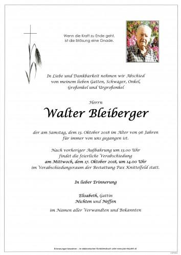 Walter Bleiberger