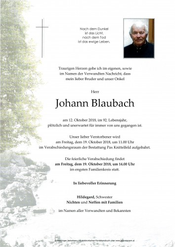 Johann Blaubach