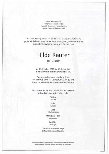 Hilde Rauter geb. Deutsch