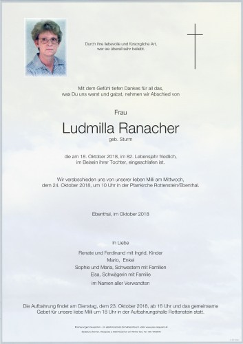 Ludmilla Ranacher