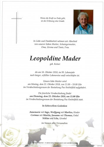 Leopoldine Mader