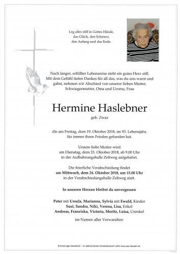 Hermine Haslebner