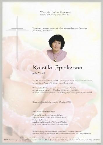 Kamilla Spielmann geb. Wadl