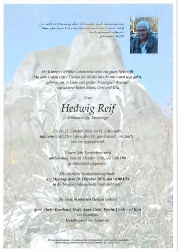Hedwig Reif