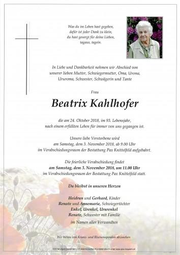 Beatrix Kahlhofer