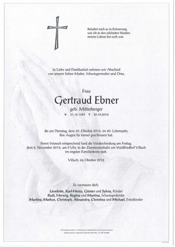 Gertraud Ebner
