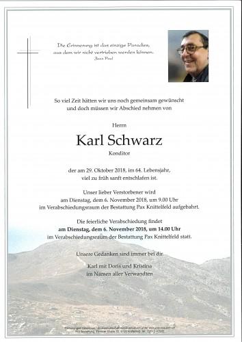Schwarz Karl, Konditor