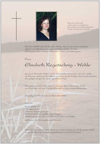 Elisabeth Regatschnig - Wehle