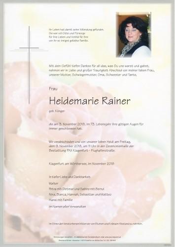 Heidemarie Rainer