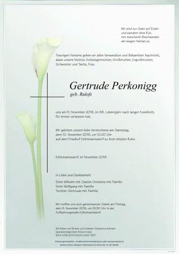 Gertrude Perkonigg