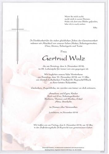 Gertrud Wulz geb. Pertl
