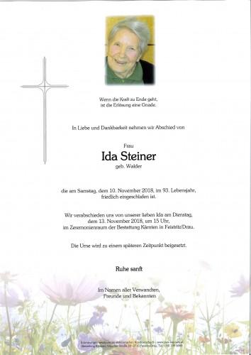 Ida Steiner, geb. Walder