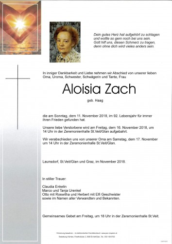 Aloisia Zach