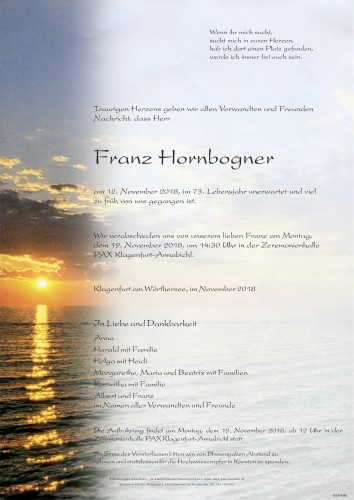 Franz Hornbogner