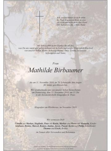 Mathilde Birbaumer