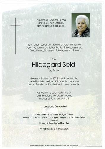 Hildegard Seidl, vlg. Moser