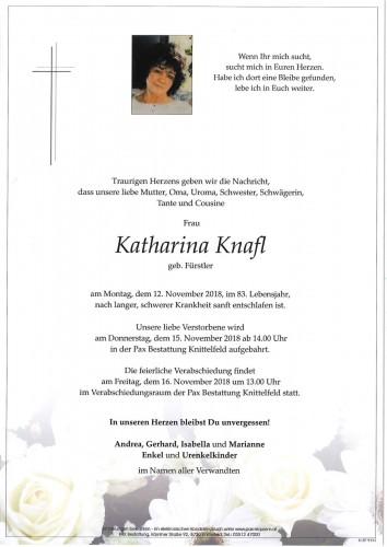 Katharina Knafl geb. Fürstler