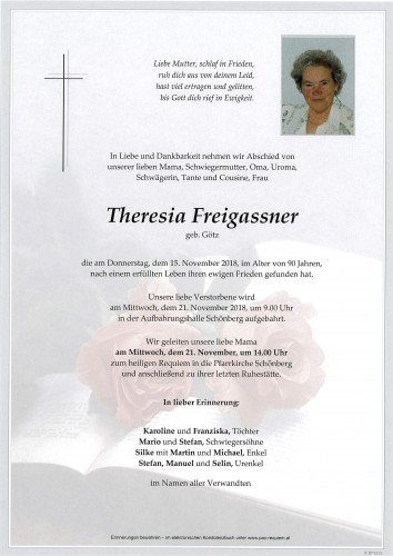 Theresia Freigassner