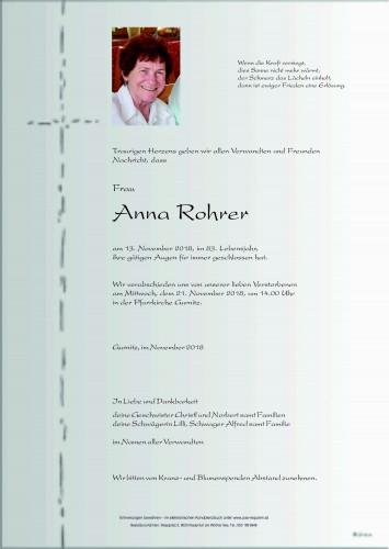 Anna Rohrer