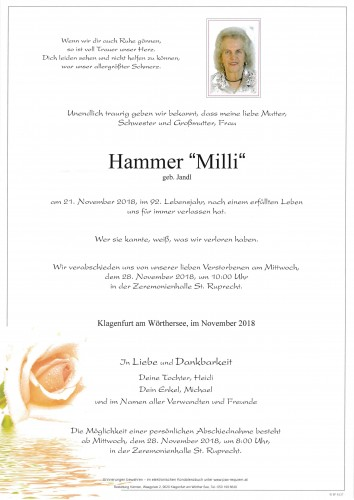 "Ludmilla Hammer ""Milli"""