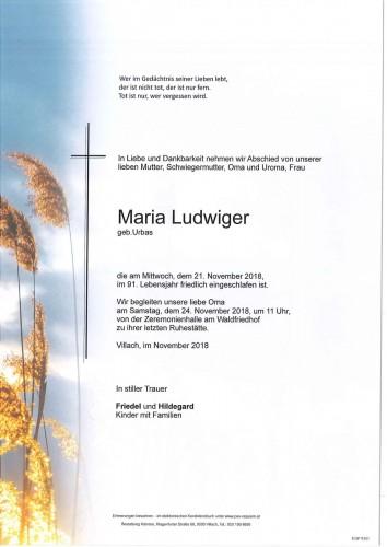 Maria Ludwiger geb. Urbas
