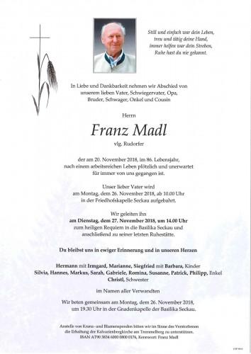 Franz Madl, vlg. Rudorfer