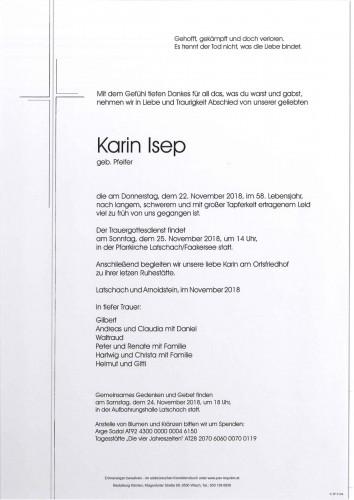 Karin Isep geb. Pfeifer